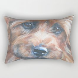 beautiful Australian Terrier dog portrait from an original painting by L.A.Shepard Rectangular Pillow