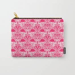 Flamingo Damask Carry-All Pouch