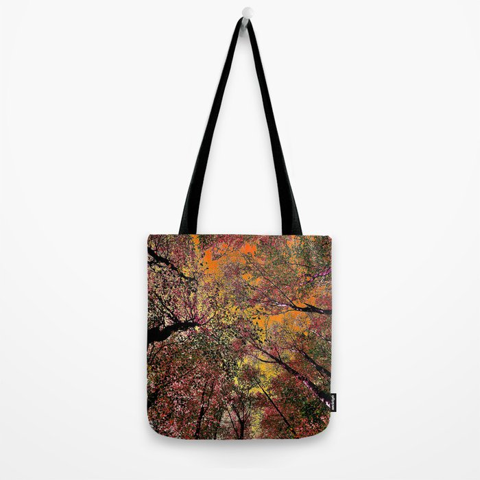 Colored forest Tote Bag