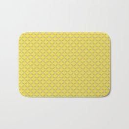 Small scallops in buttercup yellow Bath Mat