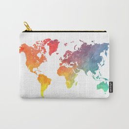 Map of the world colored Carry-All Pouch