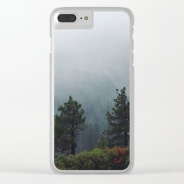 Foggy Trees in Emerald Bay Clear iPhone Case