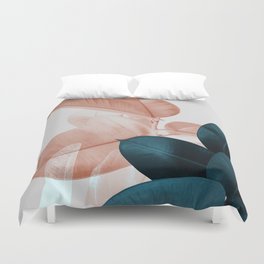 Plant Leaves, Tropical Leaves, Botanical Duvet Cover