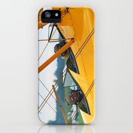 Oldtimer yellow plane iPhone Case