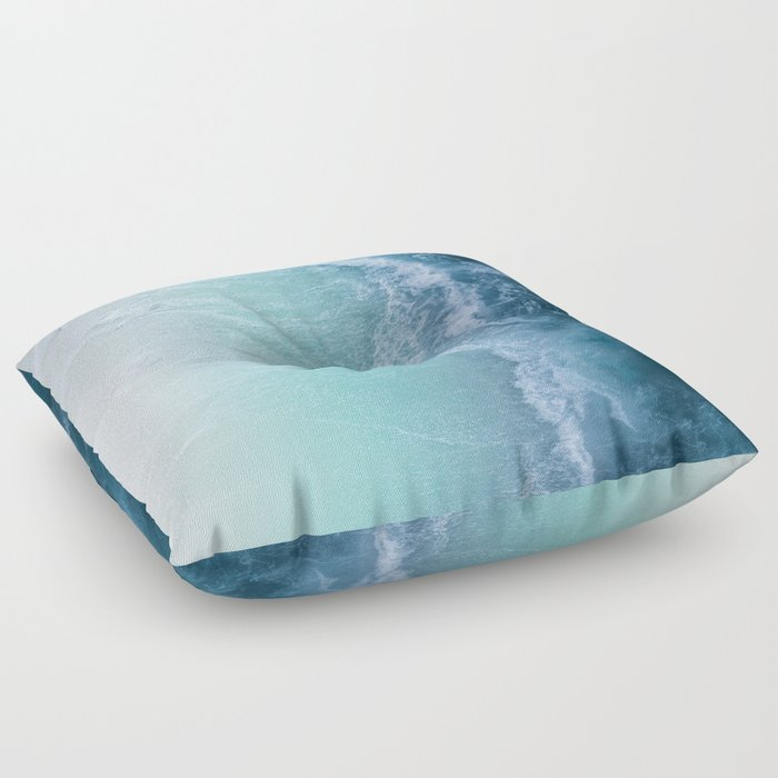 Turquoise Sea Floor Pillow