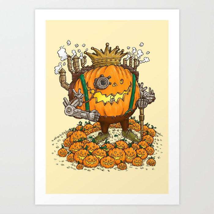 The Steampunk Pumpking Art Print