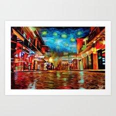 French Quarter Under the Stars Art Print