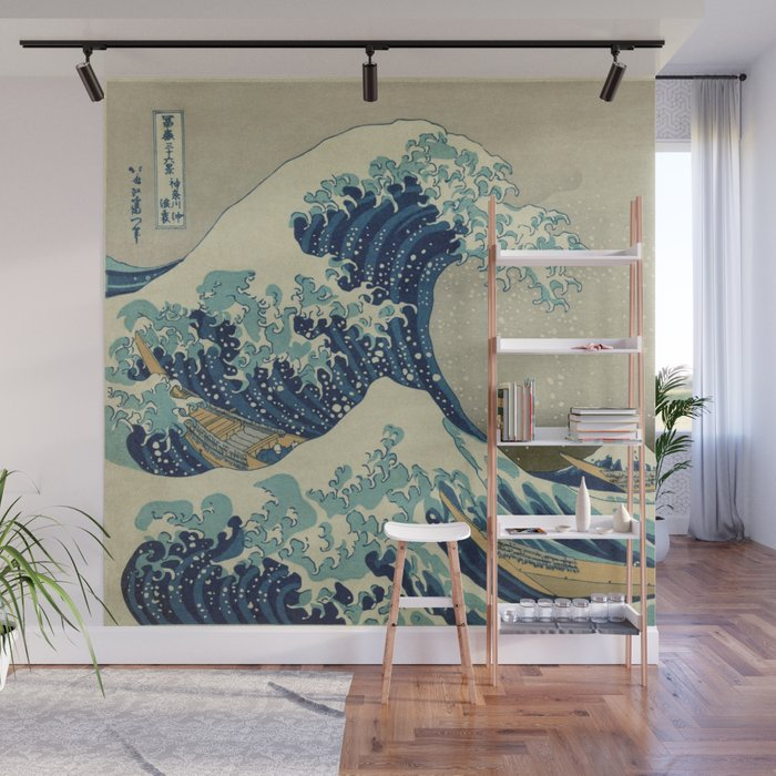 The Great Wave Off Kanagawa Wall Mural by