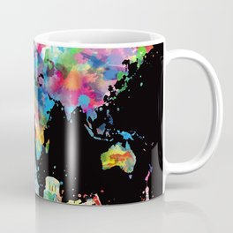world map city skyline 3 Coffee Mug