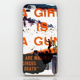 A Girl Is A Gun iPhone Skin