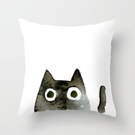 I Love Cats No.13 by Kathy Morton Stanion Throw Pillow