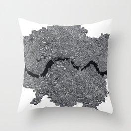 London Map Throw Pillow