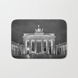 BERLIN Brandenburg Gate   monochrome Bath Mat