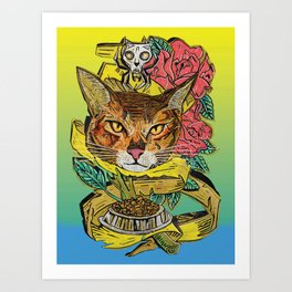 Cat-too 1 Art Print