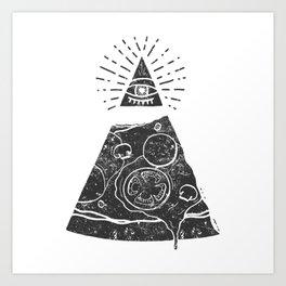 Comforting Food - Freemasonry Pizza Art Print