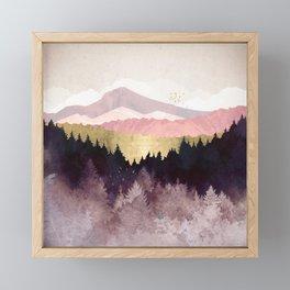 Plum Forest Framed Mini Art Print