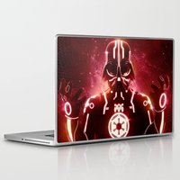 tron Laptop & iPad Skins featuring Tron Vader Red by dracorubio