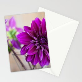 dahlias Stationery Cards