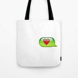 Emoji heart conversation case Tote Bag