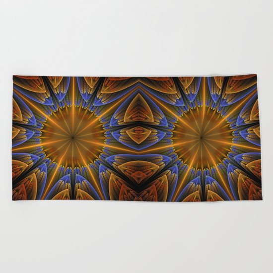 Autumn star Beach Towel
