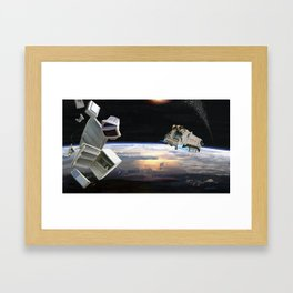Space junk Framed Art Print