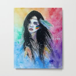 Rainbow girl Metal Print