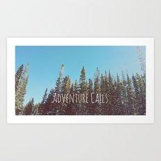 Adventure Calls Art Print