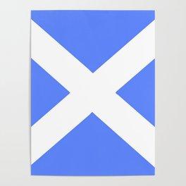 flag of scotland 5– scotland,scot,scottish,Glasgow,Edinburgh,Aberdeen,dundee,uk,cletic,celts,Gaelic Poster