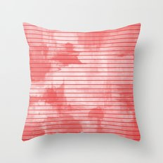 Seeing Red - Textured, geometric red Throw Pillow