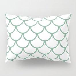Sea Foam Green Fish Scales Pattern Pillow Sham