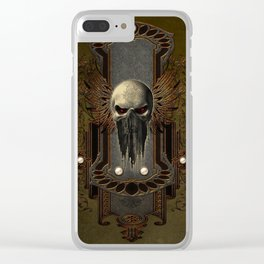 Amazing skull with wings Clear iPhone Case