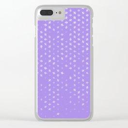 leo zodiac sign pattern pu Clear iPhone Case