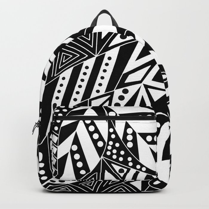 Black and white abstract pattern. 1 Backpack