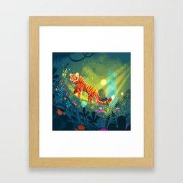 Tiger in the Garden of Kings Framed Art Print