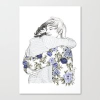 larry Canvas Prints featuring Larry by Coconut Wishes