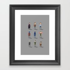Xmen Pixels: Days of Future PAST Framed Art Print