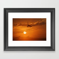 sunset landing Framed Art Print