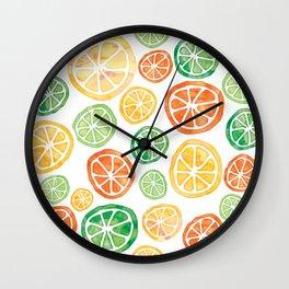 Lemons, limes and tangerines Wall Clock