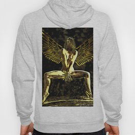 3525-MM Golden Angel Feminine Energies Contained Fingers Wings Spread Hoody
