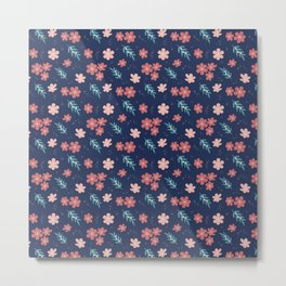 field of flowers II - floral pattern Metal Print