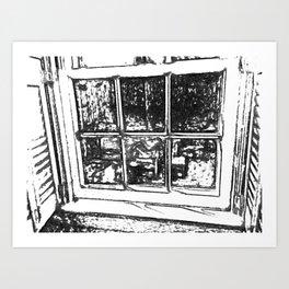 A Rear Window View Art Print