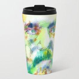 KARL MARX - watercolor portrait Travel Mug