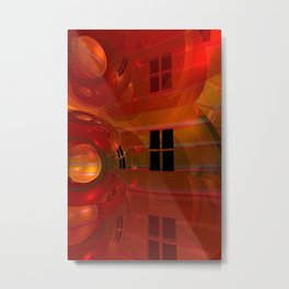 the crooked red room Metal Print