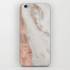 Marble Rose Gold Shimmery Marble iPhone & iPod Skin
