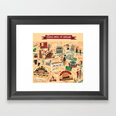 Edible Map of Dublin Framed Art Print