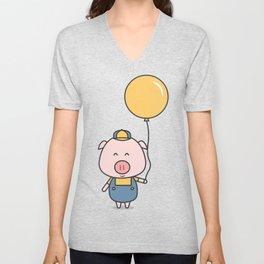 Little Piggy Unisex V-Neck