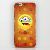 positive iPhone & iPod Skins featuring Positive by Keyspice
