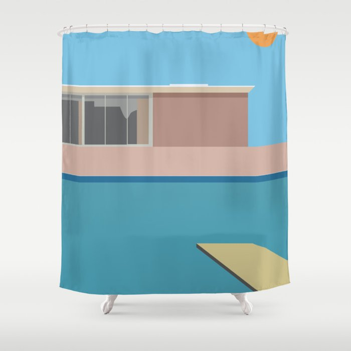 A Bigger Splash Shower Curtain
