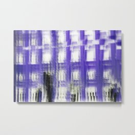 Purple building Metal Print