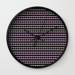Dots and lines Wall Clock